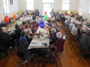Afternoon tea at the Mitre Hall 100 year celebration Photo by Elaine Aitken